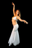 Beautiful Young Blonde Belly Dancer, Full body Royalty Free Stock Images