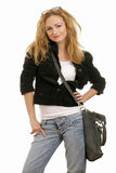 Beautiful young blonde in casual wear Royalty Free Stock Image