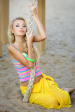 Beautiful young blonde girl Stock Photos