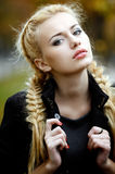 Beautiful young blonde girl Royalty Free Stock Photos