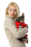 Beautiful young blonde girl Stock Photography
