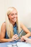 Beautiful young blonde girl Stock Photos