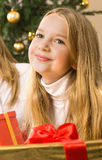 Beautiful young blonde girl - christmas Royalty Free Stock Image