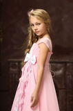 Beautiful young blonde girl with long hair Stock Images