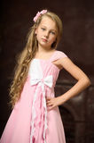 Beautiful young blonde girl with long hair Stock Photo