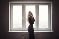 Beautiful Young Blonde Girl Portrait Royalty Free Stock Photo