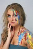 Beautiful Young Blonde, Headshot (5) Stock Photography