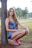 Beautiful Young Blonde Outdoors (6) stock images
