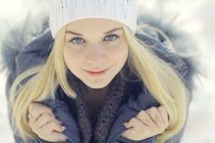 Beautiful young blonde teen Stock Photos
