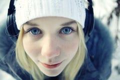 Beautiful young blonde teen Stock Photo