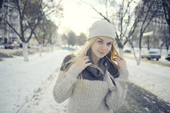 Beautiful young blonde teen Royalty Free Stock Image