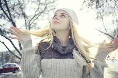 Beautiful young blonde teen Stock Photography