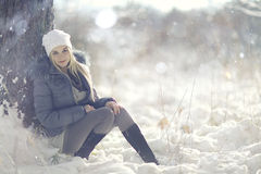 Beautiful young blonde teen Stock Image