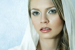 Beautiful young blonde woman Stock Photos