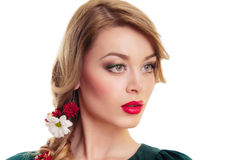 Beautiful young blonde woman Royalty Free Stock Images