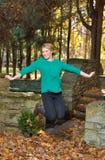 Beautiful young blonde woman - autumn Stock Photography