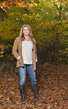 Beautiful young blonde woman - autumn Royalty Free Stock Image