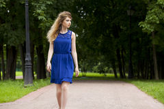 Beautiful young blonde woman Stock Photography
