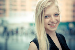 Beautiful young blonde woman Royalty Free Stock Photography
