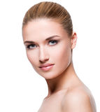 Beautiful young blonde woman with clean skin Royalty Free Stock Image