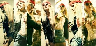 Beautiful  young blonde woman hippie Stock Photo