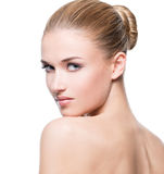 Beautiful young blonde woman with perfect skin. Royalty Free Stock Photo