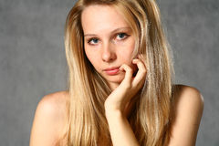 Beautiful Young Blonde Woman. Portrait. Royalty Free Stock Images