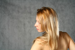 Beautiful Young Blonde Woman. Portrait. Royalty Free Stock Photography