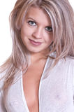 Beautiful young blonde woman. Portrait. Royalty Free Stock Photo