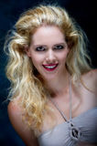Beautiful young blone female Stock Photography