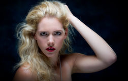 Beautiful young blone female Stock Image