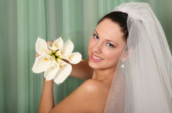 Beautiful young bride Stock Photo