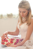 Beautiful young bride fashion look Royalty Free Stock Photo