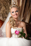 Beautiful young bride with flower Royalty Free Stock Photos