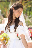 Beautiful Young Bride on her Wedding Day Royalty Free Stock Photos