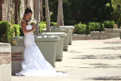 Beautiful Young Bride on her Wedding Day royalty free stock images