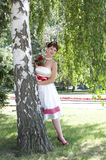 Beautiful young bride Stock Photos