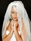 Beautiful Young Bride Praying Portrait Royalty Free Stock Image