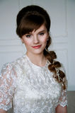Beautiful young bride with retro hairstyle Royalty Free Stock Image