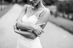 Beautiful young bride Stock Images