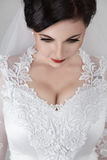 Beautiful young bride in wedding Stock Images