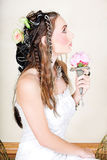 Beautiful young bride in wedding dress Royalty Free Stock Images