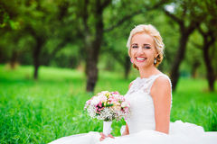 Beautiful young bride Stock Image