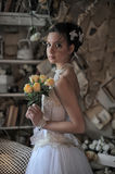 Beautiful young bride in a wedding dress Royalty Free Stock Photo