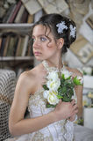 Beautiful young bride in a wedding dress Royalty Free Stock Images