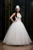 Beautiful Young Bride In Wedding Gown Stock Images