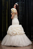 Beautiful Young Bride In Wedding Gown Royalty Free Stock Photography