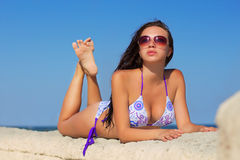 Beautiful young brunette Stock Photography