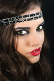 Beautiful brunette with a black headband Royalty Free Stock Photos