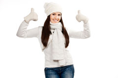 Beautiful young brunette girl Royalty Free Stock Photos